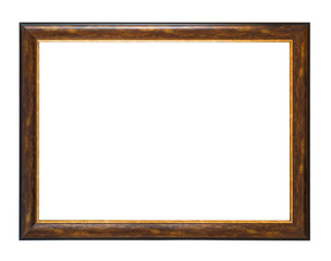 wooden empty frame