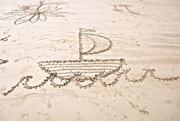 Drawing of Boat on Beach