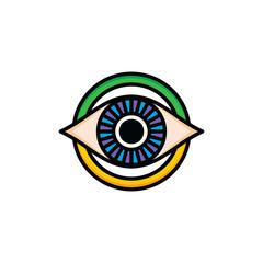 one eye of god religious sign symbol logo logotype