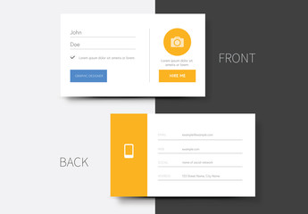 Business Card Layout with Light Orange Accents 1