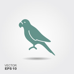 Parrot icon Flat.