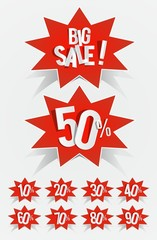 Creative Sale on background vector illustration