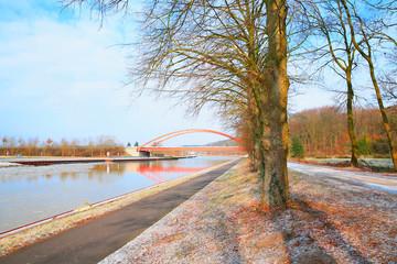 Dortmund-Ems-Kanal near Riesenbeck in Muensterland, Westphalia, Germany