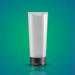 White tube mock-up for cream