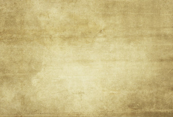 Yellowed grunge paper texture for background.