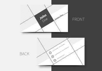 Tilted Grayscale Business Card Layout 1