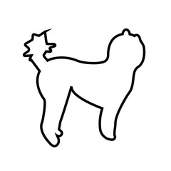 poodle silhouette clip art outline on white background