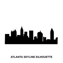 atlanta skyline silhouette on white background