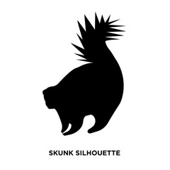 skunk silhouette on white background