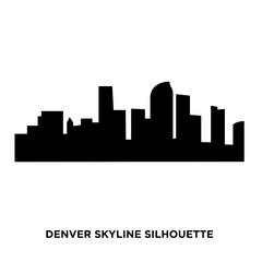 denver skyline silhouette on white background