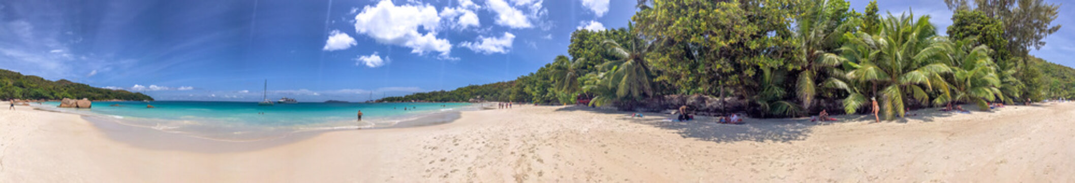 Panoramic view of Anse Lazio, Praslin - Seychelles