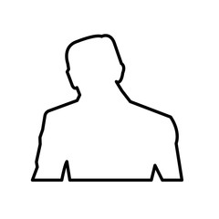 trump silhouette outline on white background