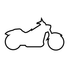 harley silhouette outline on white background