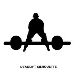 deadlift silhouette on white background