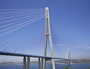 Russian bridge in Vladivostok. Russia