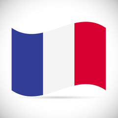 France Flag Illustration