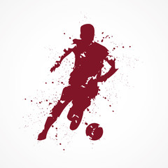 Footballeur-tâches-rouge