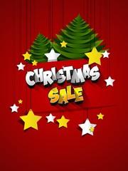 Christmas Sale on background vector illustration