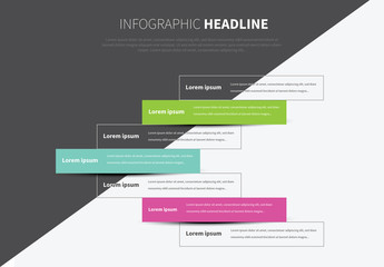 Infographic Layout with Colorful Text Fields 1