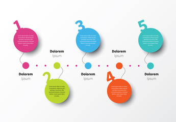 Infographic Layout with Balloon Element 1