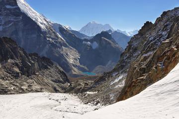 Cho La pass in Everest region, Nepal