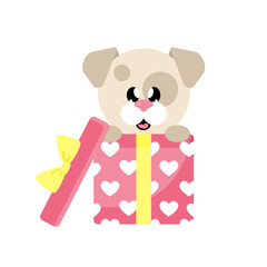 cartoon cute dog gift