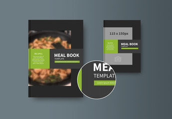 Book or Report Cover Layout with Green Accents 1