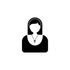 nun avatar icon.Element of popular avatars icon. Premium quality graphic design. Signs, symbols collection icon for websites, web design,