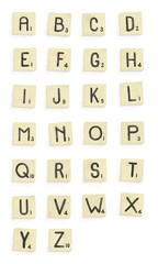 Scrabble alphabet