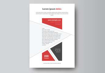 Business Flyer Layout with Abstract Geometric Design 1