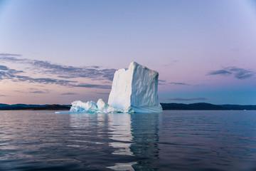 Iceberg in Greenland's white night.