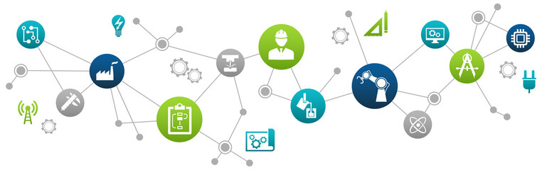 Engineering vector: digitalisation, technology, innovation - abstract concept