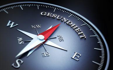 Kompass schwarz Gesundheit