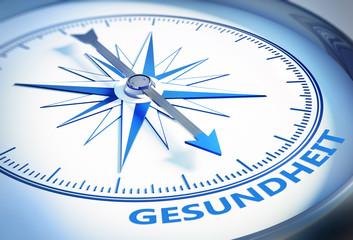 Kompass weiss blau Gesundheit