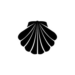 Shell vector icon. Simple flat symbol on white background