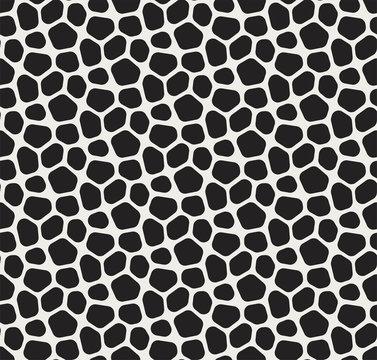 Seamless Vector Mosaic Pattern. Irregular cells background. Voronoi texture.