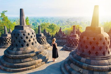 Borobudur, greatest Buddhist temple - Java, Indonesia.