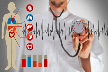 Modern medical technologies concept