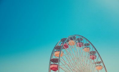 Ferris Wheel Over Sky background