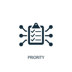 Priority icon. Simple element illustration