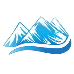 Logo blue mountains vector
