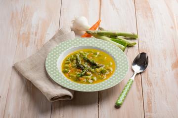 homemade asparagus soup