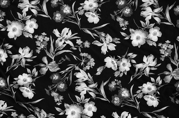 Abstract floral fabric material closeup