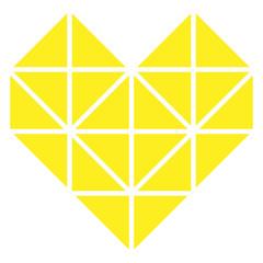 Cuore Giallo Geometrico