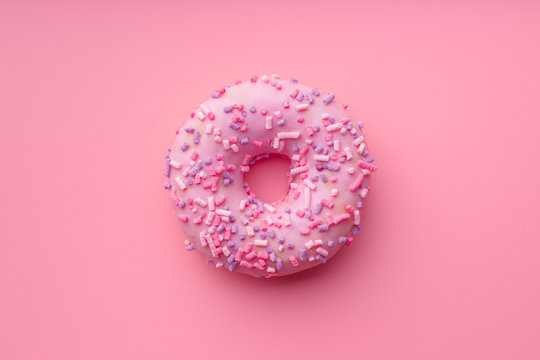 Pink sweet donut.