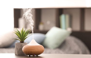 Aroma lamp on table Wall mural