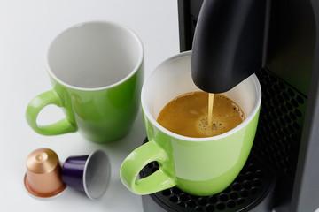 coffee maker aromatic espresso colorful green cup coffee flavors