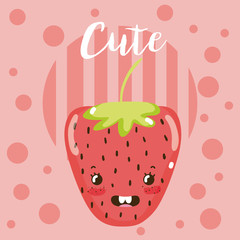 Cute fruit kawaii cartoon