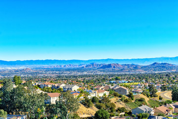 Southern California suburbs in early spring