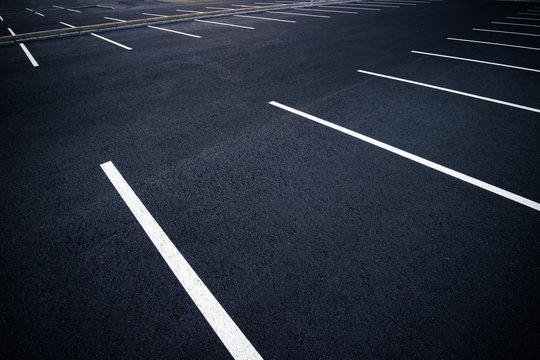 Acres of empty parking spaces